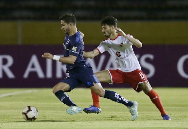 Minnesota United is reportedly pursuing Luis Amarilla of Ecuador's Universidad Catolica, left, shown in a game last August in Quito. The 24-year-old
