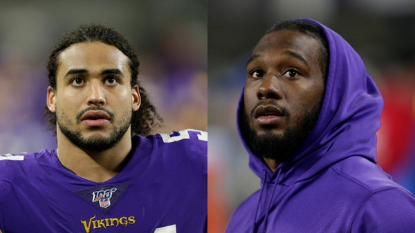 Linebacker Eric Kendricks (left) and running back Dalvin Cook won't play for the Vikings against the Bear on Sunday as they recover from various injur