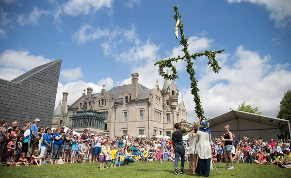 The annual Midsommar celebration at the American Swedish Institute in Minneapolis is inspired by similar celebrations held across Sweden and Europe.