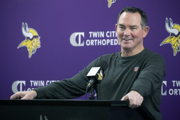 Mike Zimmer held a season-ending press briefing Monday morning at TCO Performance Center in Eagan