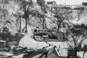 Swede Hollow, seen here in a 1910 photo, began as a Swedish enclave along Phalen Creek, but soon drew other groups.