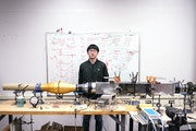 Qingfeng Cao, a U postdoctoral associate from China, worked on measuring the airflow patterns of pleated filters in the Particle Technology Lab. BACKG