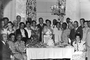 Adelphi Club, circa 1950, with Eva Neal and her husband at center.