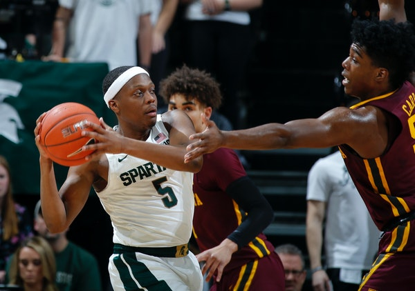 Michigan State, home of senior guard Cassius Winston, is the Big Ten team ranked nearest the top by the NCAA's new NET ranking.