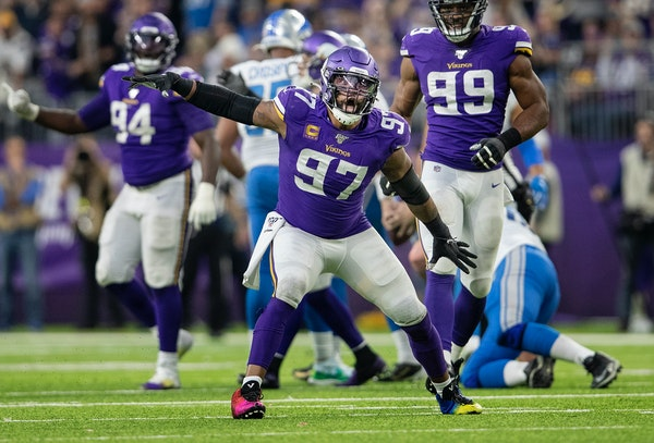 Defensive end Everson Griffen was second on the Vikings in sacks this season with eight.