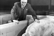 Jay C. Hormel, seen here in 1952, blended groundbreaking innovation with a talent for promotion to build his company.