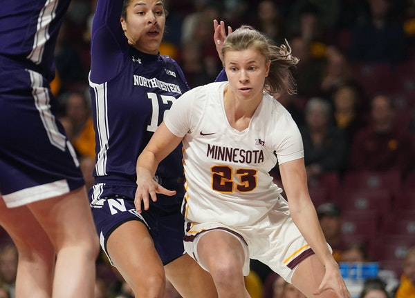 Gophers senor guard Masha Adashchyk, one of the team's hardest workers, is playing more since Destiny Pitts' departure.