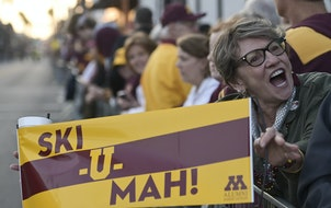 Judy Henderson waited for the Outback Bowl parade to begin last year before the Gophers played Auburn.