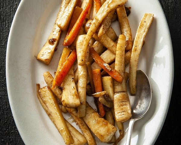 Recipe: Pan-Roasted Parsnips and Carrots
