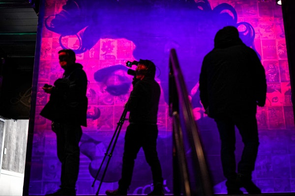 A Prince mural lit up the second floor of the Fillmore Minneapolis in January. The new venue opens Wednesday in Minneapolis' North Loop with three s