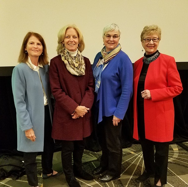 Sofia Fund principals, from left, Lisa Crump, Joy Lindsay, CEO Cathy Connett and Dee Thibodeau.