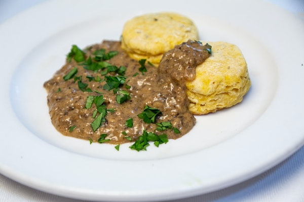 Squash Biscuits With Mushroom Gravy