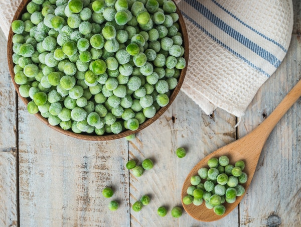 Frozen peas are a perfect match for cold winter months.