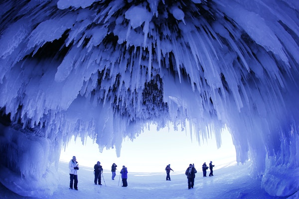 In February 2014, thousands visited the ice caves of the Apostle Islands National Lakeshore.