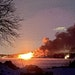 A large house fire on the shore of Lake Minnetonka produced flames visible across the lake along with smoke that showed up on Twin Cities weather rada