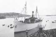 The St. Olaf Band traveled the western coast of Norway aboard the 800-ton luxury boat the Andenaes in 1906.
