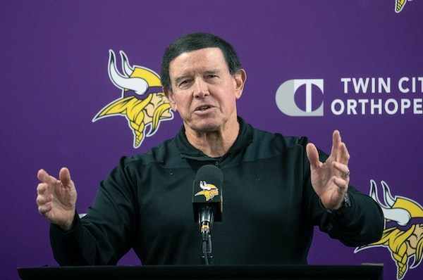Dom Capers fielded questions from the press during a news conference Tuesday at TCO Performance Center in Eagan.