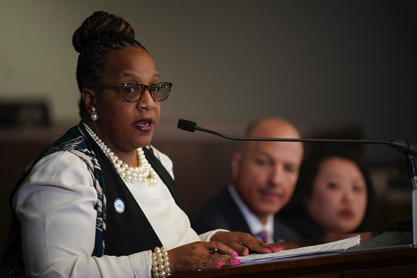 Jackie Turner, St. Paul Public Schools chief operations officer, spoke Feb. 26 about programming that would continue in the event of a strike. With he