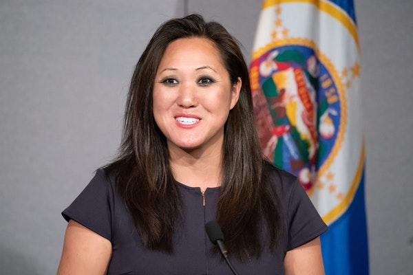 Minnesota Republican Party Jennifer Carnahan is demanding an apology from Hmong Today editor Wameng Moua after a social media post harshly condemned m
