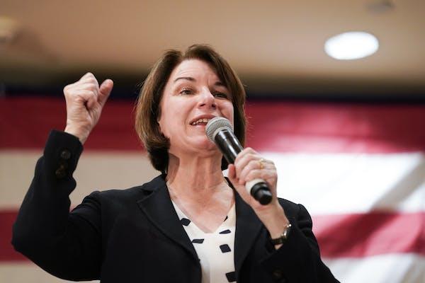 Sen. Amy Klobuchar campaigned in Mason City, Iowa, in February.