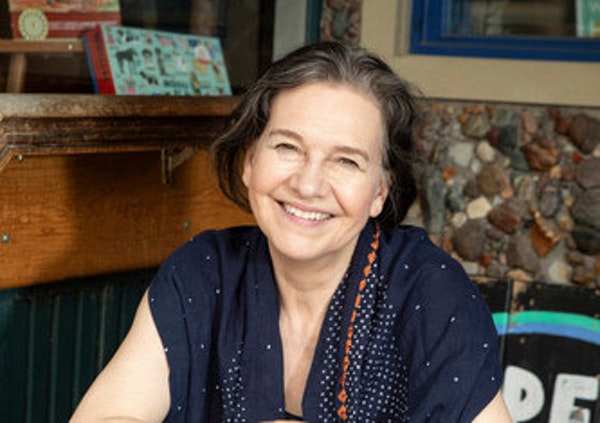 Louise Erdrich in her bookstore.