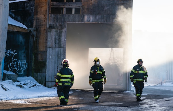 Firefighters worked to put out a fire inside a commercial building in north Minneapolis.