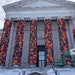 """Ai Weiwei's """"Safe Passage"""" uses life jackets abandoned by Syrian Civil War refugees to wrap the pillars utside the Minneapolis Institute of Art. (Phot"""