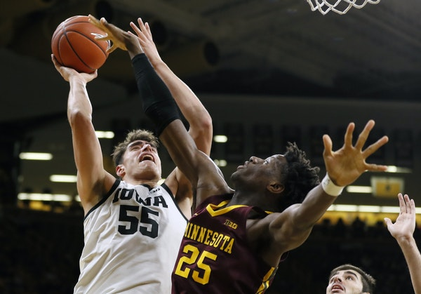 Luka Garza didn't have his best game against Daniel Oturu on Dec. 9, but he didn't need to, as Iowa still beat the Gophers 72-52 in Iowa City.