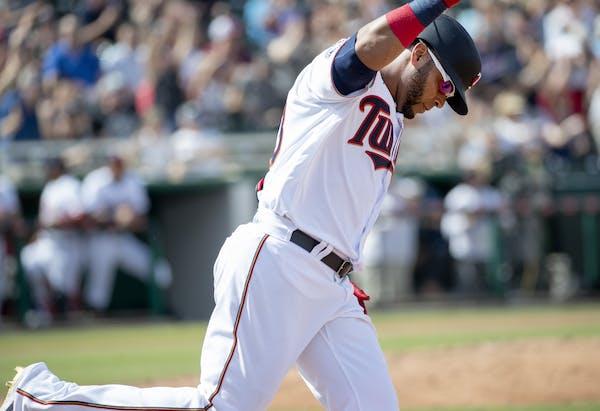 Minnesota Twins DH Nelson Cruz hit a two-run homerun in the third inning.