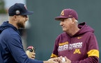 John Anderson, with Twins manager Rocco Baldelli at spring training in February, is hoping his 40th season as Gophers baseball coach is better than hi