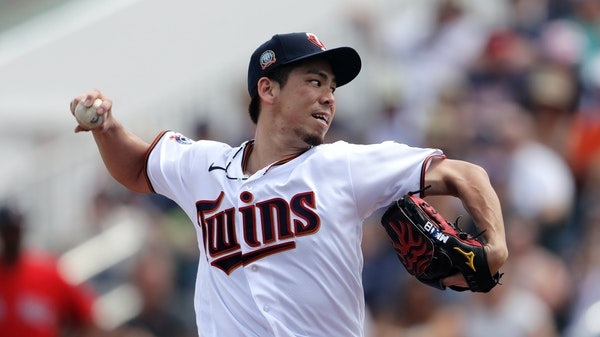 Twins righthander Kenta Maeda (shown in a February start against the Red Sox) had his most effective outing of spring training, facing 13 batters and