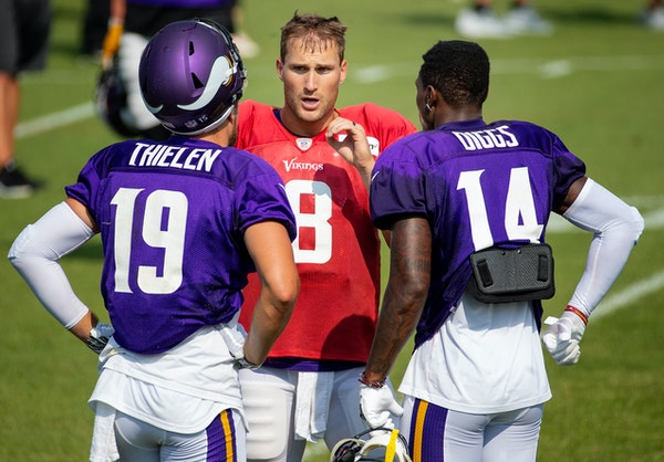 Once the Vikings ran the ball more, Kirk Cousins couldn't always keep Adam Thielen and Stefon Diggs happy.