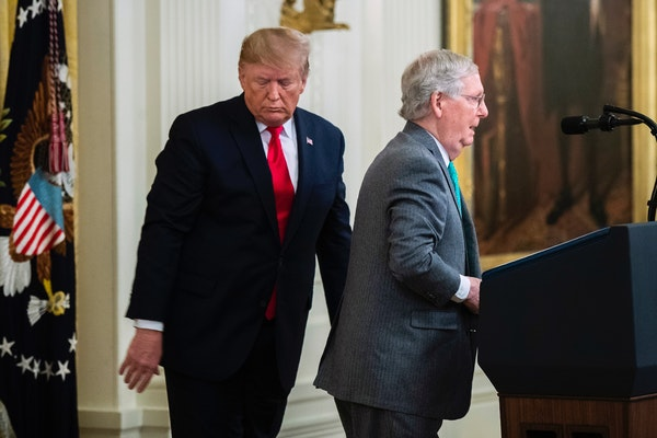 President Donald Trump and Senate Majority Leader Mitch McConnell, R-Ky.