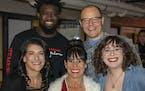 Front:Jennifer Lang, Laura and Mira Swartz. Back: Kobby Appiah and Kris Swarthout.