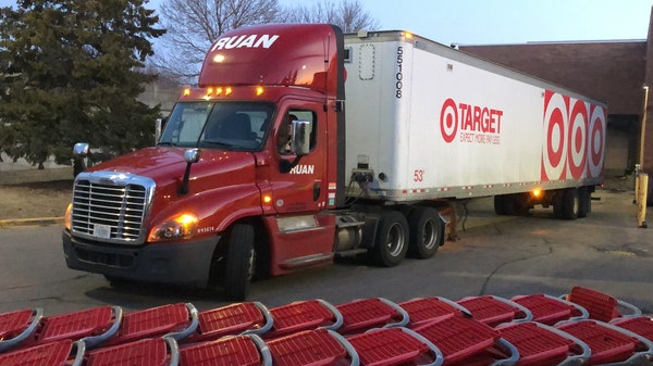 Target and other big grocers are seeing no disruptions in the supply of food and other goods. On Tuesday morning, a truck navigated past shopping cart