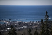 Grand Marais, as seen from Pincushion Mountain Overlook on Friday March 20, 2020.