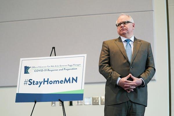 Minnesota Gov. Tim Walz, shown in March.