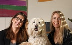 Zelda Curti and Susan Griak lead twin lives with matching sons, dogs, ages, life phases. ffiftybeauty.com