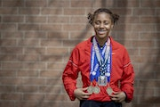 North St. Paul's Shaliciah Jones wanted to win three individual gold medals this spring as a senior.