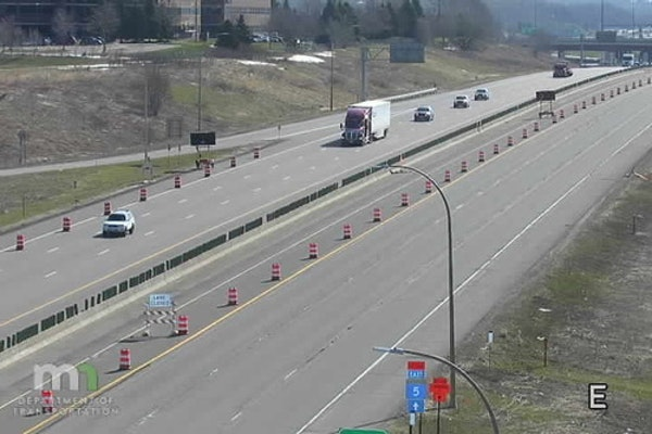 Westbound I-494 is reduced to two lanes between Hwy. 55 and Dodd Road, through June 1.