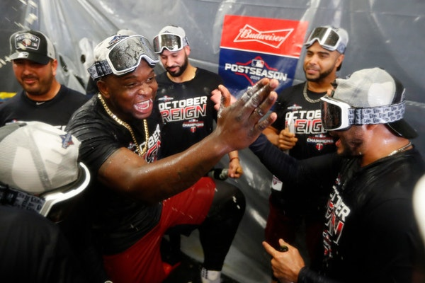 The Twins celebrated clinching the AL Central title last September.
