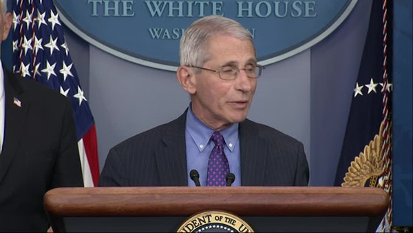 Fauci stresses 'multiple checkpoints' in Trump plan