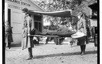 A Red Cross demonstration in Washington during the influenza pandemic of 1918.