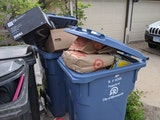 Why are the recycling bins overflowing in my alley?