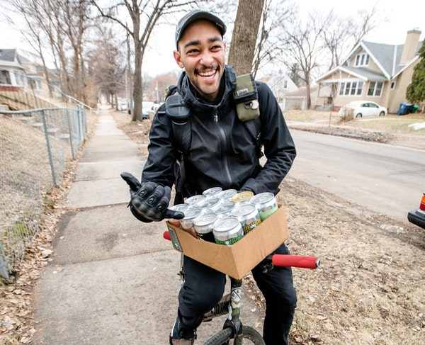 Paul Nero delivered beer by bike.