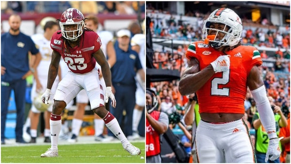After trading pick, Vikings draft Temple cornerback, Miami receiver in fifth