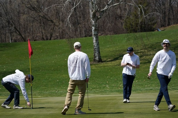 A weekend scene at Columbia Golf Course in Minneapolis.