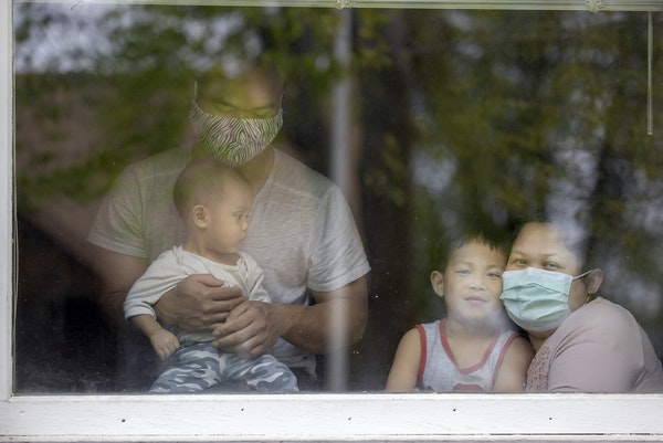 Paleh and her husband moved to Worthington in 2008 so he could work at the plant. She and her husband, and three of their four kids, are sick with COV
