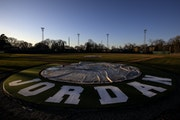 """The Jordan baseball park, also known as the """"Mini Met,"""" has been a frequent host of state tournament baseball games."""