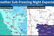 Friday night's cold and possible frost were just the start of a weekend full of unseasonable weather.